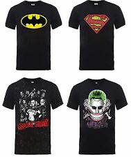 DC Comics Mens T Shirts New Short Sleeve Superman Batman Joker Harley Quinn UK