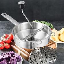 Vegetable Mill Manual Food Grinder Dishwasher Safe 3 Grinding Disks Dishwasher