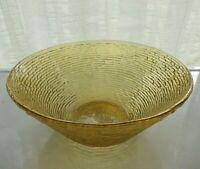 "Anchor Hocking Glass Gold Amber Soreno 11 1/2"" Serving Bowl"