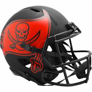 TAMPA BAY BUCS Black Eclipse NFL Full Size Replica Football Helmet