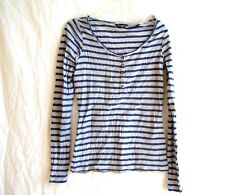 "Maison Scotch lavender & gray striped shirt, sz 1/S, 32"" chest"