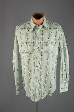 Vtg Men's 1970s H Bar C NOS Deadstock Cotton Western Shirt sz M 15x35 70s #3770