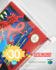 30 BOITIERS PROTECTION PROTECTIVE CASE SUPER NINTENDO SNES N64 0,4 mm NEUFS