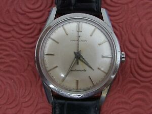 HAMILTON ALL STAINLESS STEEL VINTAGE AUTOMATIC WRISTWATCH RUNS!!