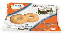 12 x Fazzi biscotti Rustichelle al COCCO con RISO (12 confezioni)