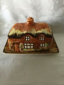 Price Brod. Cottage Ware Ye Olde Cottage Butter/cheese Lidded England