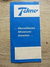 Catalogue de voitures miniatures TEKNO 1964/1965 - Dépliant