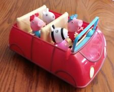 Peppa Pig Talking Red Car with Working Sounds Jazwares with 4 figures