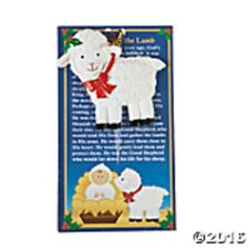 LEGEND OF THE LAMB ORNAMENT ON CARD CHRISTMAS PARTY FAVOR RESIN