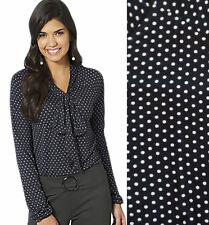 Viscose Stretch Blouses Spotted Tops & Shirts for Women