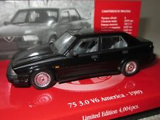 MINICHAMPS, ALFA ROMEO 75, 3.0 V6 AMERICA (1989) BLACK, 1:43 Scale, #403 120463