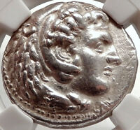 ALEXANDER III the GREAT Ancient 325BC Tetradrachm Greek Coin Zeus NGC AU i66666