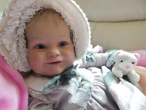 """REBORN TODDLER 23"""" MADDIE by BONNIE BROWN - soft touch hair-cuddly body ADORABLE"""