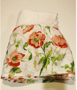 "LAURA ASHLEY Vintage Freshford Poppy Bedskirt Dust Ruffle- 14"" Drop- Twin Size"