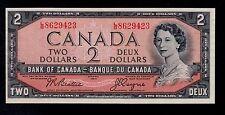 CANADA  2  DOLLARS  1954 L/B  PICK # 76a AU-UNC  BANKNOTE.