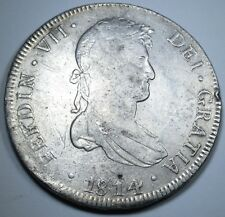 1814 PJ PERU 8 REALES COIN PIECE OF EIGHT REAL SPAIN PIRATE SHIPWRECK TREASURE?