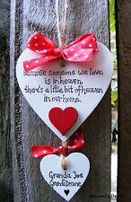 Il paradiso in casa nostra-Memoriale Ornamento di Natale-handmade-personalisedheart-Rosso