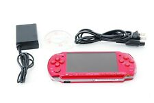 Sony PSP 3000 Launch Edition Red Handheld System Console + Charger [Excellent]
