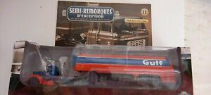 SEMI REMORQUE D'EXCEPTION - N°72 - MACK B61T CITERNE GULF(1953) - 1/43