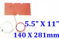 """5.5"""" X 11"""" 140 X 281mm 24V 130W MakerBot Replicator 2X Build Bed Plate CE Heater"""