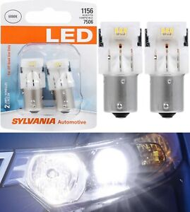 Sylvania Premium LED Light 1156 White 6000K Two Bulbs Back Up Reverse Replace OE