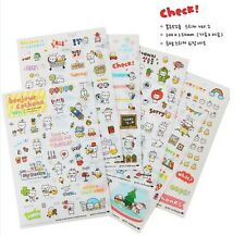 6 Sheet Cute Pig Transparent Calendar Diary Book Sticker Scrapbook Decoration