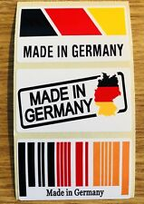 3 MADE IN GERMANY STICKERS (VW, AUDI, BMW)