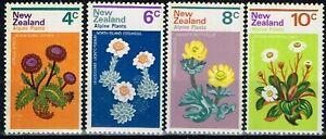 New Zealand 1972 Alpine Plants Full Set MNH SG 983/986