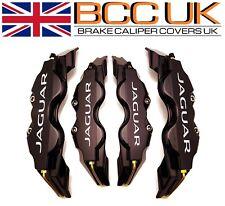BIG BLACK Brake Caliper Covers DIY Kit JAGUAR Logo Front Rear L+M fits JAGUAR