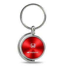 Honda S2000 Red Brushed Metal Spinner Key Chain