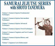 Samurai Jujutsu Instructional Series (7) Dvd Set sword techniques naginata yari