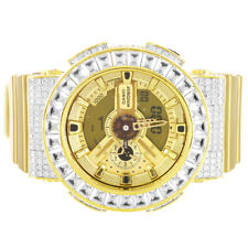 Mens Casio G Shock GA 110 GD Baguette Bezel Digital Custom Designer Watch