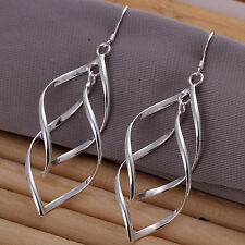 "Free shipping wholesale sterling solid silver fashion ""8"" drop Earrings XLSE168"