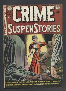 Crime SuspenStories # 13 - Lizzie Border axe Cover! - EC Pre-code Horror!
