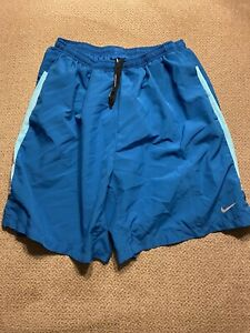 Men's Nike Lined Racing Running Shorts Teal Large L 548156-418