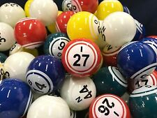 Bingo Balls - Top Quality Clear Coated 38MM 5 Solid Color 2 Number (GM-50-71HDN)