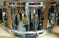"Gretsch Snare Drum  USA 14x6,5"" Chrome over Brass USA / Rullante Caisse Claire"