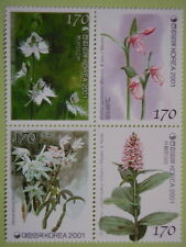 Korea 2001 Orchids Block/4 Orchid Scent Impregnated MNH Sc#2066