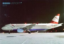 Austrian Airlines (Tyrolean) Airbus A320-214 OE-LBI at Brno 2013  Postcard