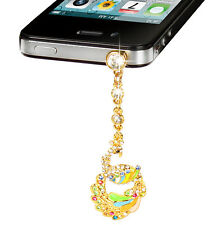 Colorful Crystal Diamond Phone Dust Cap Pendant For Cell Phone 3.5mm Jack