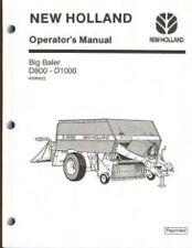 NEW HOLLAND D800 & D1000 BIG BALER OPERATORS MANUAL