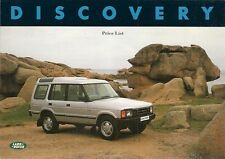 Land Rover Discovery 1992-93 UK Market Prices & Options Brochure Tdi V8i S