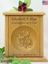 Human Cremation Urn - Carved Double Rose Urn (P-100)