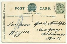 1909  PPC BLUE 2/LINE STEAMER CACHET POSTED ON LA MARGUERITE USED LIVERPOOL