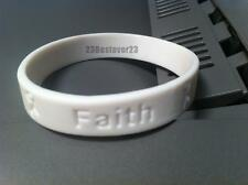 25 White Lung Cancer Awareness Silicone ADULT Bracelet Wristbands