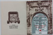 CARNET DE 8 TIMBRES - EMISSION AU PROFIT DE LA CROIX-ROUGE FRANCAISE - 1970