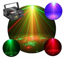 SUNY 5 Lens 80 Patterns RG Laser Red Green LED Stage Light Projector DJ Effects