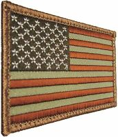 USA AMERICAN FLAG TACTICAL US MORALE MILITARY DESERT VELCRO® BRAND FASTEN PATCH