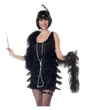 Fashion Flapper Sexy 20s Halloween Costume Dress Only - Large - Black #5263