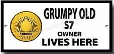 Grumpy Old Sunbeam S7 Owner Lives Here Metall Zeichen British Motorrad